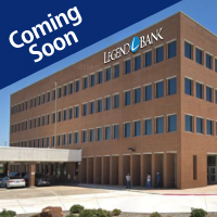 Legend Bank North Richland Hills Branch with sign, coming soon
