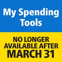 My Spending Tools No longer available after March 31