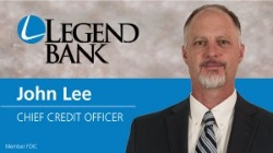 John Lee, Chief Credit Officer Photo and Legend Bank logo