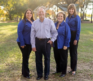 photo of our North Richland Hills Team: From the left, Michelle Petrie, manager, AVP, Mike Rigby, regional president, EVP, Marlene Sanderlin, business development SVP, Mindy Monroe, president, SVP.