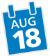 Aug 18 Date Icon