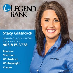 Stacy Glasscock photo, mortgage loan officer, Bonham, Sherman, Whitesboro, Whitewright and Cooper, 903.815.3738, NMLS 1430302