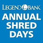Legend Bank Annual Shred Days