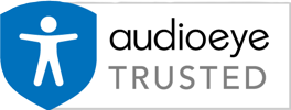 Logo for - audioeye Trusted